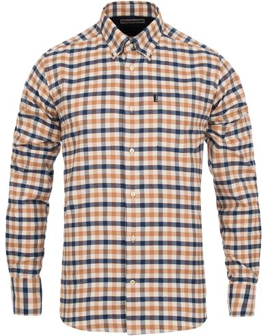 Barbour Lifestyle Moss Tailored Fit Flannel Shirt Copper i gruppen Klær / Skjorter / Flanellskjorter hos Care of Carl (12019111r)