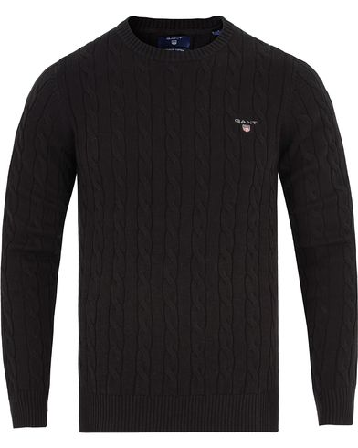 GANT Cotton Cable Black i gruppen Gensere / Strikkede gensere hos Care of Carl (12024711r)