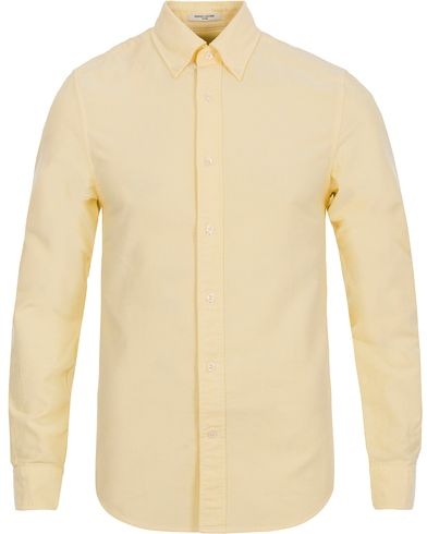 The Perfect Oxford Fitted Body Shirt Soft Yellow i gruppen Skjorter / Oxfordskjorter hos Care of Carl (12032211r)