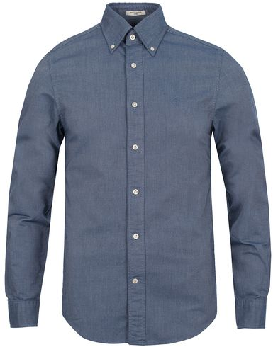 The Perfect Oxford Fitted Body Shirt Navy i gruppen Tøj / Skjorter hos Care of Carl (12032511r)