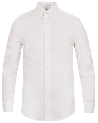 The Pinpoint Oxford Fitted Body Shirt White i gruppen Klær / Skjorter / Oxfordskjorter hos Care of Carl (12032611r)