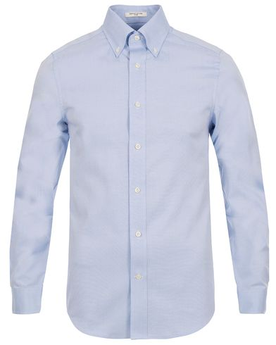 The Pinpoint Oxford Fitted Body Shirt Capri Blue i gruppen Kläder / Skjortor / Oxfordskjortor hos Care of Carl (12032711r)