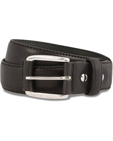 GANT Plain Leather 3,5 cm Belt Black i gruppen Tilbehør / Bælter / Blanke bælter hos Care of Carl (12037211r)