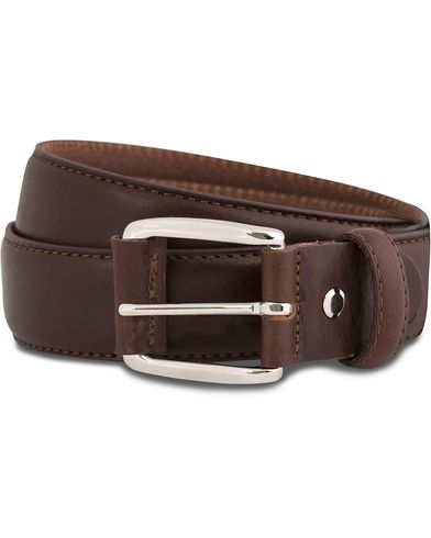 GANT Plain Leather 3,5 cm Belt Dark Brown i gruppen Accessoarer / Bälten / Släta bälten hos Care of Carl (12037311r)
