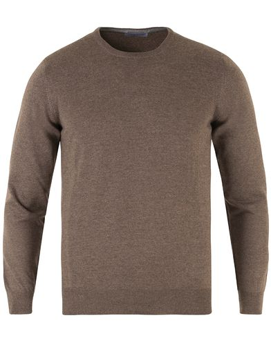 Gran Sasso Merino Fashion Fit C-Neck Pullover Brown i gruppen Tøj / Trøjer / Pullovere / Pullovers med rund hals hos Care of Carl (12047311r)