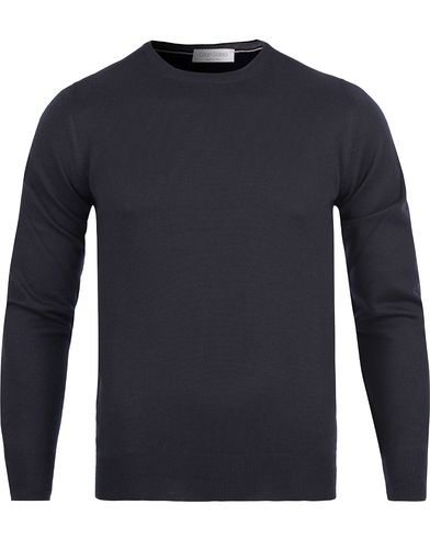 Gran Sasso Merino Fashion Fit C-Neck Pullover Navy i gruppen Kläder / Tröjor / Pullovers / Rundhalsade pullovers hos Care of Carl (12047811r)