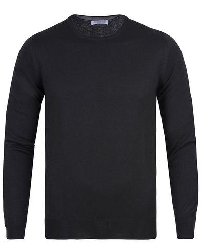 Gran Sasso Merino Fashion Fit C-Neck Pullover Black i gruppen Tröjor / Pullovers / Rundhalsade pullovers hos Care of Carl (12047911r)