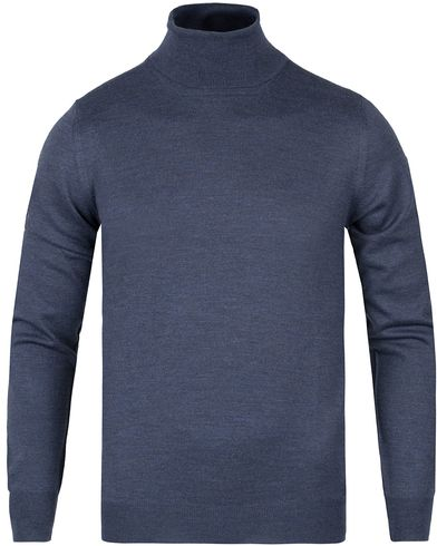 Gran Sasso Merino Fashion Fit Roll Neck Dark Blue i gruppen Trøjer / Rullekravetrøjer hos Care of Carl (12048911r)