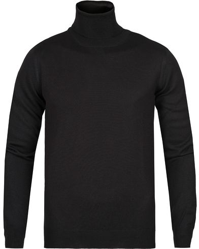 Gran Sasso Merino Fashion Fit Roll Neck Black i gruppen Trøjer / Rullekravetrøjer hos Care of Carl (12049011r)