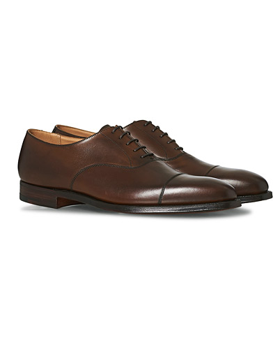 Crockett & Jones Hallam Oxford Dark Brown Calf i gruppen Skor / Oxfords hos Care of Carl (12049711r)