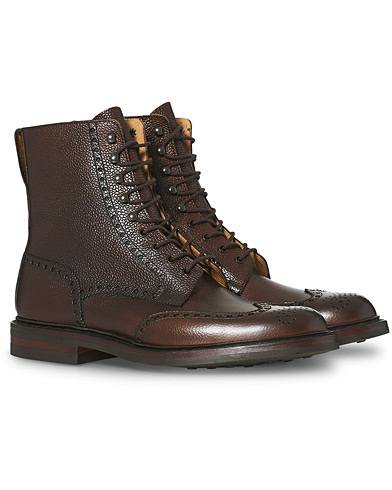 Crockett & Jones Islay Boot Dark Brown Grained Calf i gruppen Skor / Kängor / Snörkängor hos Care of Carl (12050211r)