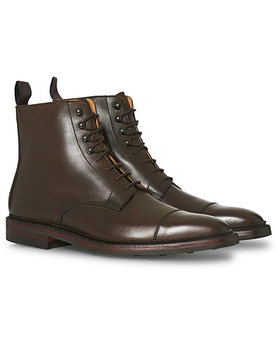 Crockett & Jones Northcote Boot Dark Brown Calf i gruppen Sko / Støvler / Snørestøvler hos Care of Carl (12050311r)