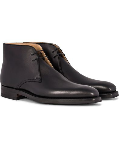 Crockett & Jones Tetbury Chukka Black Calf i gruppen Sko / Støvler / Chukka boots hos Care of Carl (12050411r)