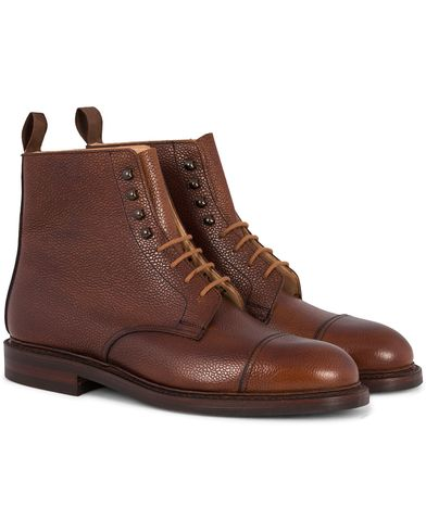 Crockett & Jones Coniston Boot Tan Grained Calf i gruppen Sko / St�vler / Sn�rest�vler hos Care of Carl (12050811r)