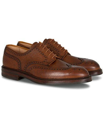 Crockett & Jones Pembroke Derbys Tan Grained Calf i gruppen Sko / Brogues hos Care of Carl (12050911r)