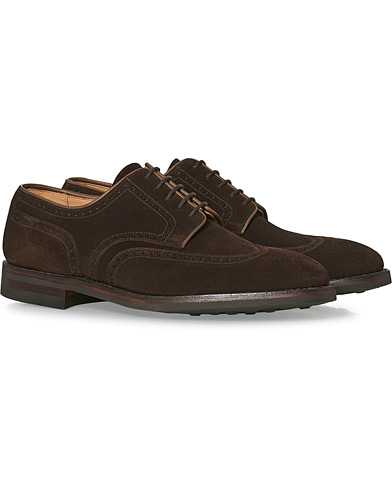 Crockett & Jones Swansea Brogue Dark Brown Suede i gruppen Skor / Brogues hos Care of Carl (12051211r)