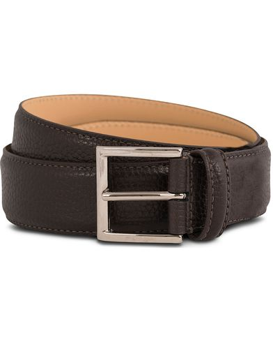 Crockett & Jones Belt 3,5 cm Dark Brown Grained Calf i gruppen Assesoarer / Belter / Umønstrede belter hos Care of Carl (12051411r)