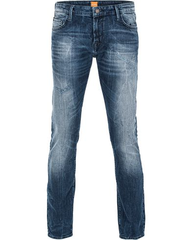 BOSS Orange 71 Slim Fit Jeans Medium Blue Hole i gruppen Kläder / Jeans / Smala jeans hos Care of Carl (12055111r)