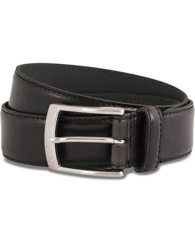 HUGO C-Easily Leather Belt 3,5 cm Black i gruppen Tilbehør / Bælter / Blanke bælter hos Care of Carl (12066011r)