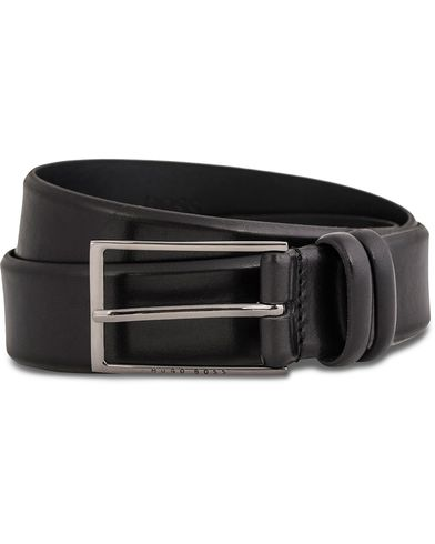 BOSS Carmello Leather Belt 3,5 cm Black i gruppen Accessoarer / Bälten / Släta bälten hos Care of Carl (12066911r)
