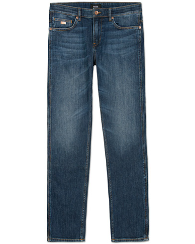 BOSS Delaware 3 Jeans Mid Blue i gruppen Jeans / Slim fit jeans hos Care of Carl (12069811r)