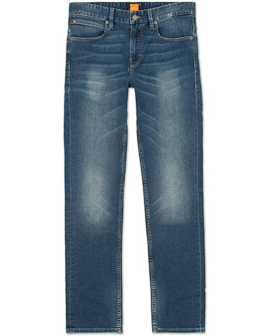 Boss Orange Orange 63 Slim Fit Jeans Washed Blue i gruppen Jeans / Smale jeans hos Care of Carl (12071411r)