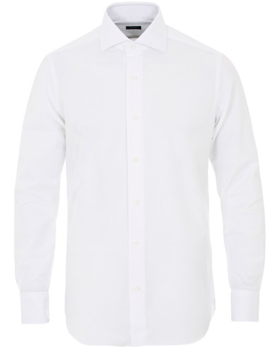 Barba Napoli Slim Fit Oxford Shirt White i gruppen Skjorter / Oxfordskjorter hos Care of Carl (12077511r)