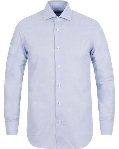 Barba Napoli Slim Fit Oxford Shirt Blue i gruppen Tøj / Skjorter / Oxfordskjorter hos Care of Carl (12077611r)