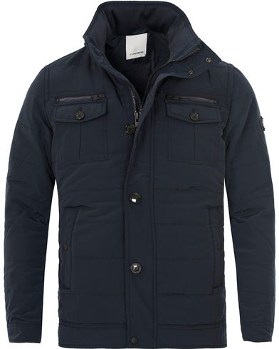 J.Lindeberg Bailey 56 Structured Poly Jacket Dark Navy i gruppen Jakker / Forede jakker hos Care of Carl (12083111r)