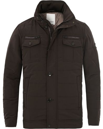 J.Lindeberg Bailey 56 Structured Poly Jacket Brown i gruppen Jakker / Forede jakker hos Care of Carl (12083211r)