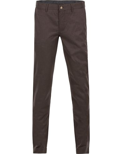 J.Lindeberg Chaze Flannel Twill Chino Dirt Brown i gruppen Klær / Bukser / Flanellbukser hos Care of Carl (12084211r)