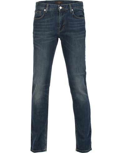 J.Lindeberg Damien Worn Jeans Dark Blue i gruppen Tøj / Jeans / Slim fit jeans hos Care of Carl (12085011r)