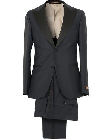 Morris Heritage Mike Peaked Tuxedo Suit Navy i gruppen Kostymer / Smoking hos Care of Carl (12094611r)