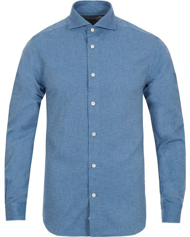 Morris Heritage Bond Cut Away Flannel Shirt Blue i gruppen Kläder / Skjortor hos Care of Carl (12096811r)