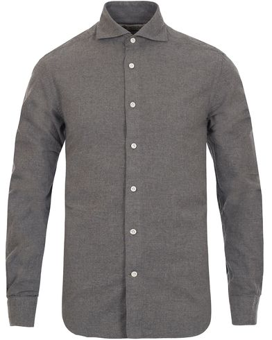 Morris Heritage Bond Cut Away Flannel Shirt Grey i gruppen Skjorter / Flannelskjorter hos Care of Carl (12097011r)