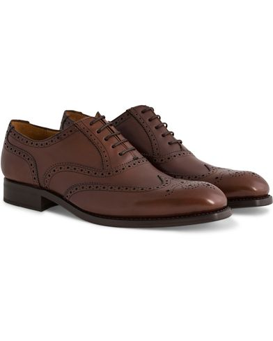 Morris Heritage Enmore Brogue Leather Shoe Brown i gruppen Sko / Brogues hos Care of Carl (12115211r)