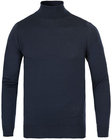 John Smedley Belvoir Roll Neck Midnight i gruppen Tröjor / Polotröjor hos Care of Carl (12116511r)