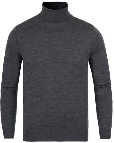John Smedley Belvoir Roll Neck Charcoal i gruppen Klær / Gensere / Pologensere hos Care of Carl (12116611r)