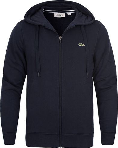 Lacoste Zip Hooded Sweatshirt Navy Blue i gruppen Tr�jor / Huvtr�jor hos Care of Carl (12120511r)