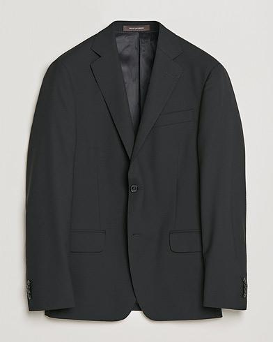 Oscar Jacobson Edmund Blazer Super 120´s Wool Black i gruppen Kavajer / Enkelknäppta kavajer hos Care of Carl (12140611r)