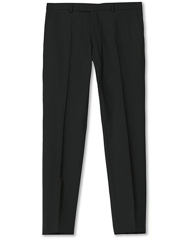 Oscar Jacobson Damien Trousers Super 120's Wool Black i gruppen Byxor / Kostymbyxor hos Care of Carl (12140711r)