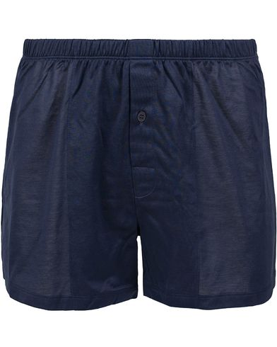 HANRO Cotton Sporty Boxer Midnight Navy i gruppen Kläder / Underkläder / Kalsonger / Boxershorts hos Care of Carl (12143611r)