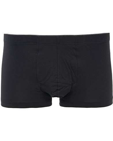 HANRO Cotton Superior Trunk Black i gruppen Underkl�der / Kalsonger / Boxershorts Kort hos Care of Carl (12143811r)