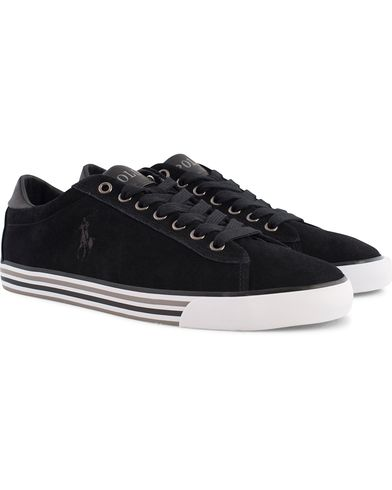 Polo Ralph Lauren Harvey Sneaker Black Suede i gruppen Sko / Sneakers / Sneakers med lavt skaft hos Care of Carl (12158211r)