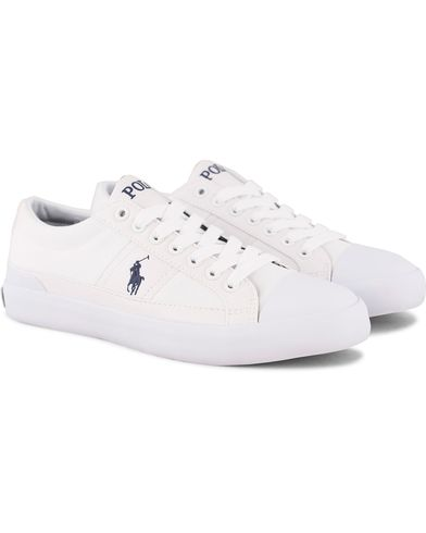 Polo Ralph Lauren Churston Canvas Sneaker White i gruppen Sko / Sneakers / Sneakers med lavt skaft hos Care of Carl (12158411r)