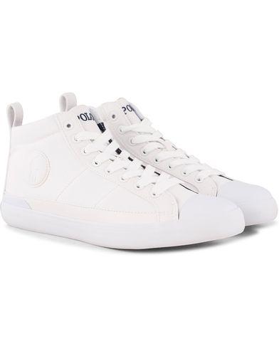 Polo Ralph Lauren Clarke Mid Sneaker White i gruppen Sko / Sneakers / Sneakers med høyt skaft hos Care of Carl (12158611r)