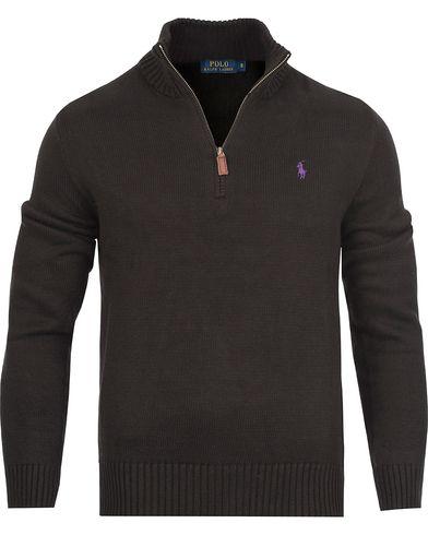 Polo Ralph Lauren Cotton Half Zip Polo Black i gruppen Kläder / Tröjor / Zip-tröjor hos Care of Carl (12169811r)