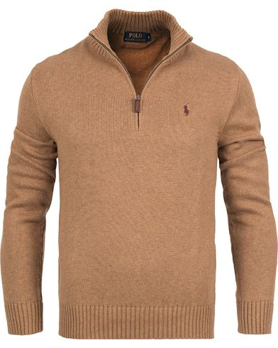 Polo Ralph Lauren Cotton Half Zip Nubuck Heather i gruppen Klær / Gensere / Zip-gensere hos Care of Carl (12169911r)