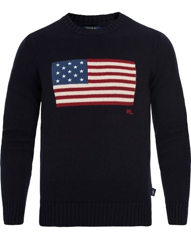 Polo Ralph Lauren Crew Neck Knit Navy Flag i gruppen Klær / Gensere / Strikkede gensere hos Care of Carl (12178211r)
