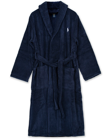 Polo Ralph Lauren Shawl Robe Navy i gruppen Underkläder / Morgonrockar hos Care of Carl (12187111r)
